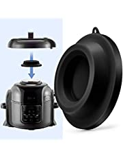 Lid Stand Silicone Lid Holder Accessories Compatible with Ninja Foodi Pressure Cooker and Air Fryer 5 Qt, 6.5 Qt and 8 Quart, Black, By Sicheer