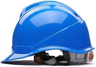 LCSHAN エンジニアリングヘルメット高強度ABSサイト換気補強 (Color : Blue)