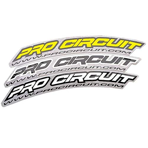 Pro Circuit .Com Fender Stickers - Black DC0005 ()