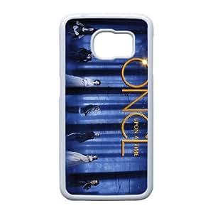 Hasta que llegó su caso Tiempo L0P26I4WL funda Samsung Galaxy S6 funda 5A5TG7 blanco