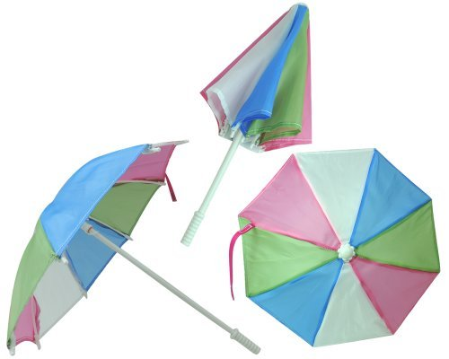 (Multi Colored Doll Sized Umbrella Perfect for 18 Inch American Girl Dolls & More!)