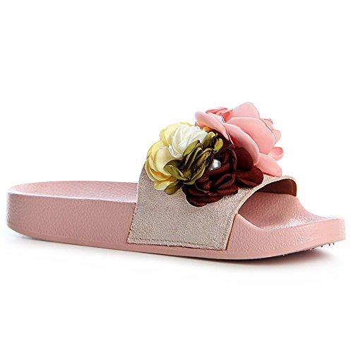 Topschuhe24 Sandales Femmes Sandalettes Femmes Sandales Rose Sandalettes Topschuhe24 gwp5TnxPq