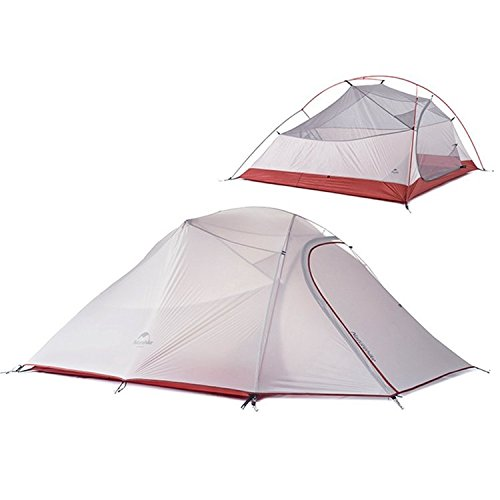 Naturehike Travel Camping Tent 3 Person Double Layer Waterproof Hiking Tent Outd ( Gray - Mall Of Nh