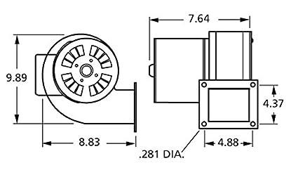 amazon com fasco b45227 115 volt 265 cfm centrifugal blower garden rh amazon com 3 Speed Blower Motor Wiring Blower Fan Wiring