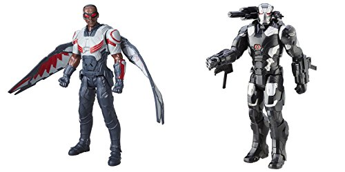 [Super Hero Falcon Electronic & Marvel's War Machine Electronic 12-Inch Hero Series Action Figures Toys, 2] (Iron Man War Machine Costume Accessories)