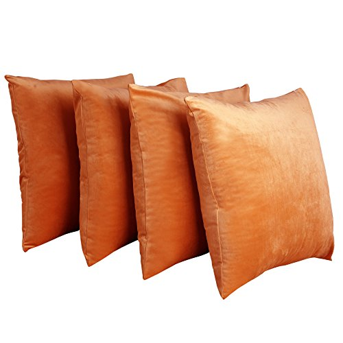 Home Soft Things BOON Supersoft Decorative Solid Color Throw Pillow Shell Cushion Cover in Pack of 4, 20
