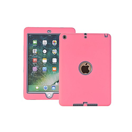 AOKER New iPad 2017 9.7 inch Case, Three Layer Lightweight H