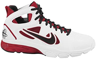 7dc66a7c782c Nike Zoom Huarache 2 Mens Basketball Shoes (White Black-Varsity Red) 12