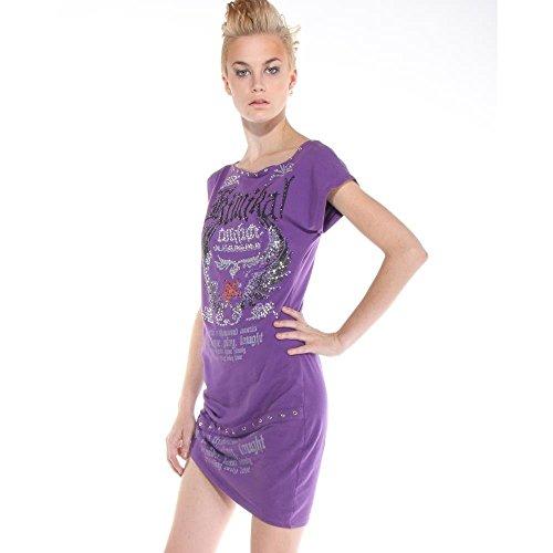 Lila Kleid Stoned Kimikal Mini Damen wOqq7t