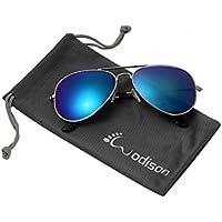 wodison Classic Kids Aviator anteojos de sol reflectante marco de metal niño Eyeglass