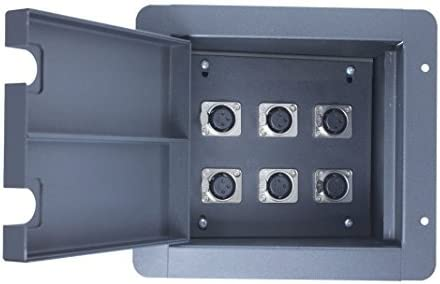 8 x XLR Female Recessed Floor Pocket 13.9 x 8.0 inch