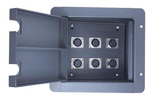 (Pro Audio Recessed Stage Floor Pocket Box Black (6-xlr Female))