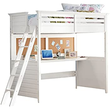 Amazon Com Acme Furniture 37670 Lacey Loft Bed With Desk