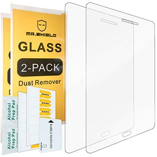 [2-Pack]-Mr Shield for Samsung Galaxy Tab A 8.0 inch [2015 Version ONLY] (SM-T350) [Tempered Glass] Screen Protector Lifetime Replacement Warranty