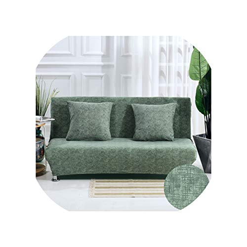 Spinning Stripped Pattern Folding Sofa Bed Cover No Armrest All Inclusive Slip Resistant Couch Cover Stretch Slipcover housse de canap,Color 9,S 120-155cm (Sectional Market Outdoor World)