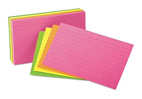 4'' x 6'' Index Cards, Ruled - pack of 5