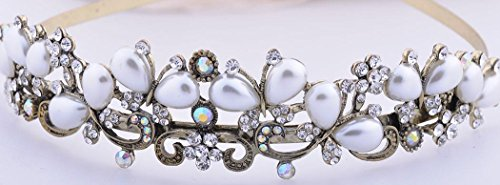 Rhinestone Crystal Tiara Crown Wedding Bridal Headband Headwear -