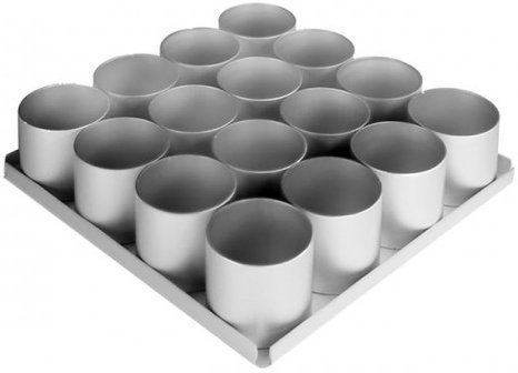 Alan Silverwood 16 Piece 3 inch Round Cake Pan Set 12334 ()
