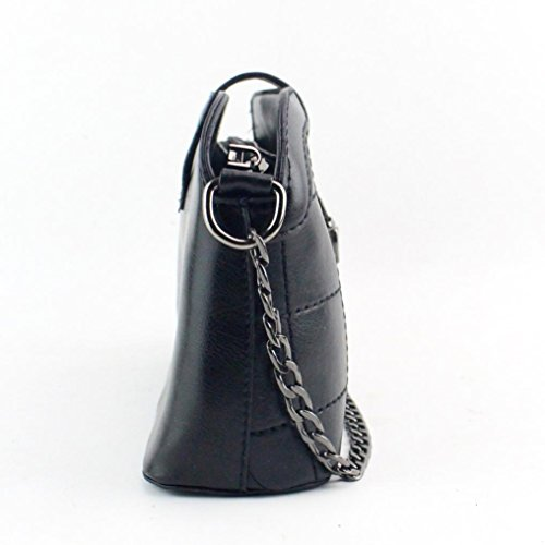 LHWY Las Mujeres de Cuero Vintage Spiraea Cadena Bolso Femenino Crossbody Bolsas de Hombro negro
