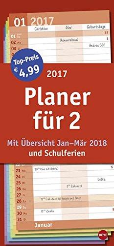 Planer für zwei Basic - Kalender 2017