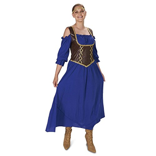 [Renaissance Corset Purple Peasant Dress Adult Costume S] (Medieval Shirt Adult Costumes)