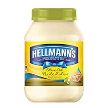 Hellmanns Olive Oil Mayonnaise 890mL