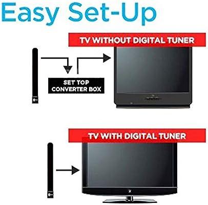 QKP Clave De TV Clara De La UE para EE. UU. HDTV Cable De Zanja para Antena Interior Digital Gratis como Se Ve En La TV: Amazon.es: Deportes y aire libre