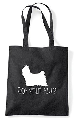 Got Black Tote Shopper Dog Pets Person Funny Bag Lover Animal Shihtzu ggwZ6qO