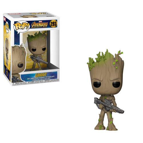 Funko POP! Marvel: Avengers Infinity War - Teen Groot with Gun]()