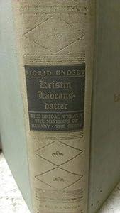 Hardcover Kristin Labransdatter Book