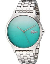 Lacoste Womens Nikita Quartz Stainless Steel Casual Watch, Color:Silver-Toned (Model: 2000994)