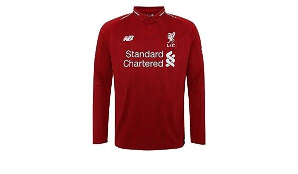 New Balance 2018-2019 Liverpool Home Long Sleeve Shirt (Kids ...