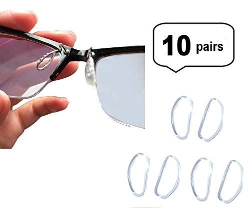 AM Landen 10 pairs 15mm Comfortable Soft Cushion Eyeglasses Nose Pads Snap-in Nose Pads for Titanium Frame -