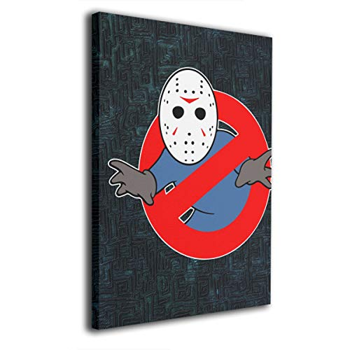 Cheny Ghostbusters Jason Voorhees -Photo Paintings Contemporary Canvas Wall Art Prints Home Decoration Giclee Artwork-Wood Frame Gallery Wrapped 12