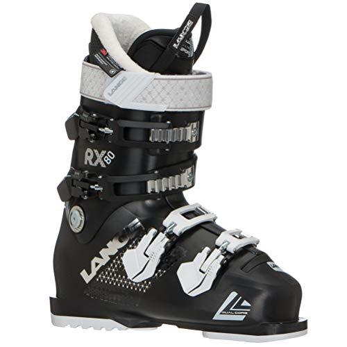 80 Womens Alpine Ski Boot - Lange RX 80 W Womens Ski Boots - 24.5/Black