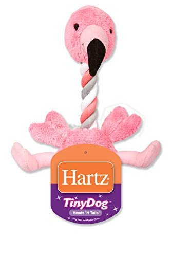Hartz Tiny Dog Heads n' Tails Plush Rope Dog Toy ( Color and Toy Design May Vary )