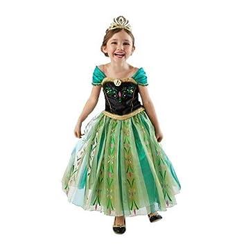 744260faab4 BLACK SUGAR (T100) N°V Magnifique Robe Bal Verte Anna Elsa La Reine ...