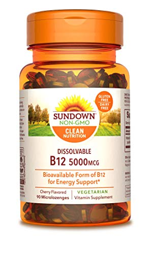Sundown Methylcobalamin B12 5000 mcg, 90 Microlozenges