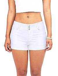 Wax De la Mujer de Cera Juniors Casual Push Up Fit Pantalones Cortos