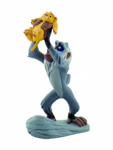 King Rock Lion Pride (Bullyland Rafiki with Baby Simba Action Figure)