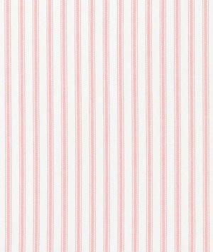 Covington Pink Woven Ticking Fabric - by the Yard (Woven Ticking)