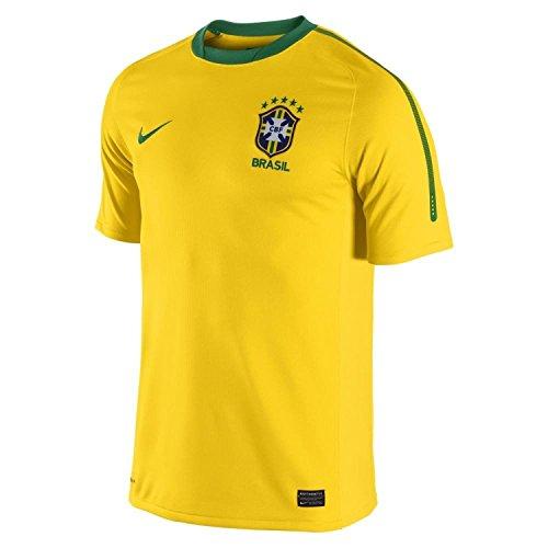 Brasil Home Jersey - Nike Youth Brasil / Brazil Home Soccer Stadium Jersey 2010 (YS)