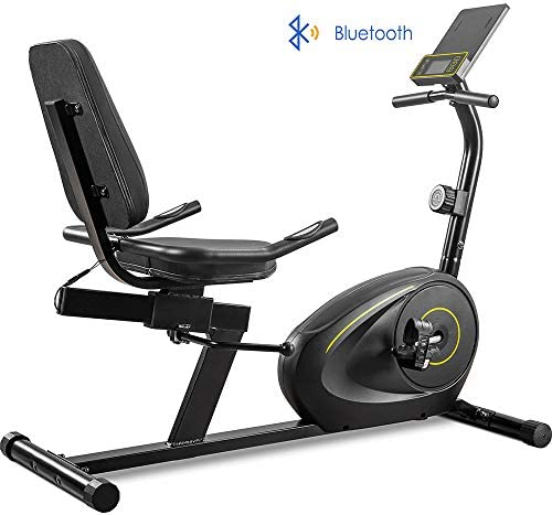 LTOOL Recumbent Exercise Bike with 8-Level Resistance, Bluetooth Monitor, Easy Adjustable Seat, 380lb Weight Capacity