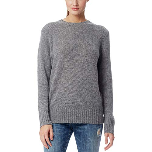 - 360 Cashmere Franny Sweater - Women's Mid Heather Grey/Vicuna/Black, S