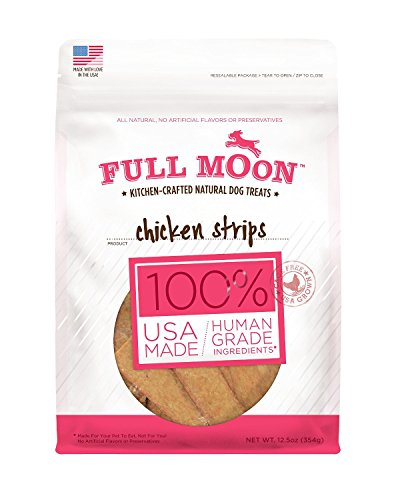 Full Moon Kitchen-crafted 100 % Natural Dog Treats Chicken Jerky (1) Chicken Strips (1) by Full Moon