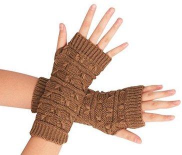 Christoopher Frauen Häkeln Fingerlose Handschuhe Stricken Armstulpen