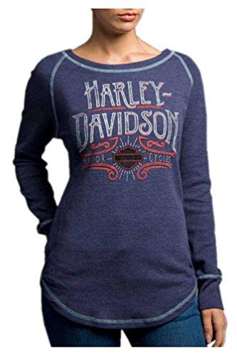 Harley-Davidson Women's Lionize Long Sleeve Raglan Thermal Shirt 5N25-HD09 (S) (Raglan Tee Thermal)