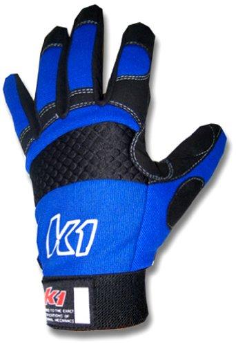 K1 Race Gear 40023222 Blue X-Large Kart Pit Mechanic Glove - Pair ()