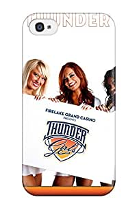 Defender Case With Nice Appearance (oklahoma City Thunder Basketball Nba Cheerleader ) For Iphone 4/4s