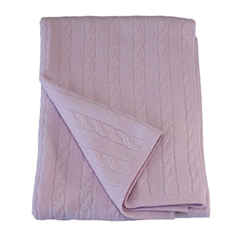 Chloe Cashmere Lavender Baby Blanket 40x36 in. Boxed for Gifting